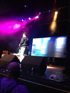 James onstage