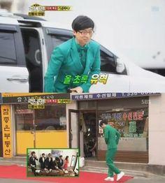 Yoo Jae Suk doesn't like the color green?