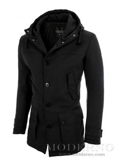 Mens casual parka coat by MODERNO (MOD13533C) 7f828f99cb9