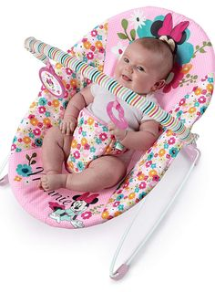 66fe38297 Disney Baby Minnie Mouse Perfect Vibrating Bouncer, Pink. Your little  Minnie Mouse will love