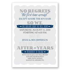 take two vow renewal invitation wedding invitation trends