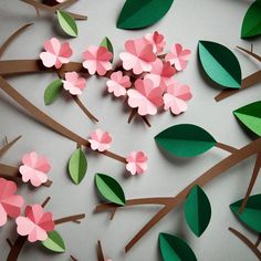 Spring is in the air! We've made this coverimage for a client in London. Happy day everybody  #paperblossom #paperleaves #paperart #papercraft #adrianandgidi