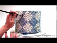Spanish Tile Cake Stencil Set ❤ https://www.youtube.com/watch?v=eWb9N9tVkP8