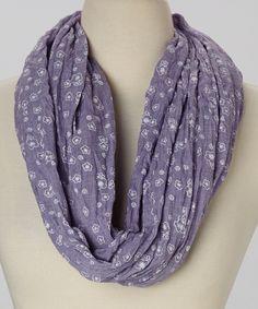 Lavender Dainty Flower Infinity Scarf