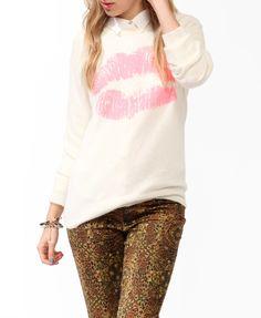 Lip Stain Sweater #sweaterweather