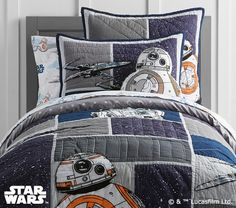 Star Wars™ Droid™ Quilted Bedding #pbkids