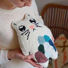 Totoro Punch Needle by Emma, Julie Robert #punchneedle #rughooking
