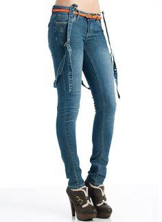 suspendered skinny jeans $35.70