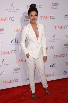 Priyanka Chopra in all white at the 2016 Time 100 Gala.