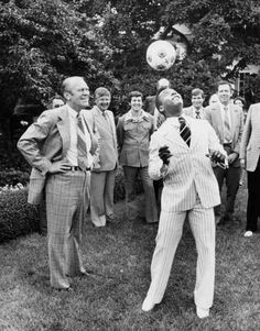 Gerald Ford and Pele: