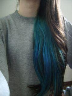 my teal hair didn't last enough! Teal Hair, Green Hair, Ombre Hair, Turquoise Hair, Blue Green, White Hair, Red Purple, Color Blue, Pink