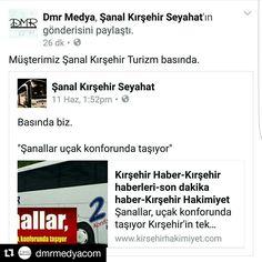 Müşterimiz Şanal Kırşehir Turizm basında.