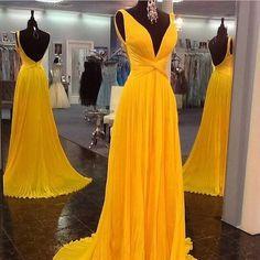 Simple-dress Elegant Long Chiffon Prom Dresses/Evening Dresses/Formal Dresses CHPD-7432