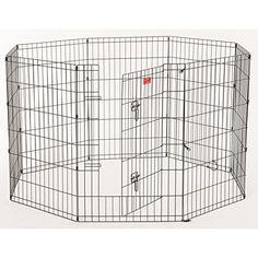 Lucky Dog 36-in x 24-in Black Steel Indoor/Outdoor Exercise Pen