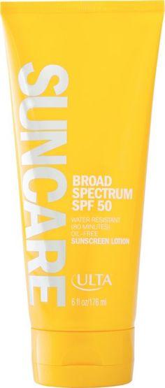 ULTA Suncare Broad Spectrum SPF 50 Sunscreen Lotion SPF 50 Ulta.com - Cosmetics, Fragrance, Salon and Beauty Gifts