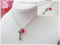Free Shipping Swarovskey Key Necklace by pinxjewelry on Etsy, $18.00