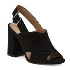 Women's Roselyn Block Heel Slingback Mule Pumps - Cognac 5.5, Black