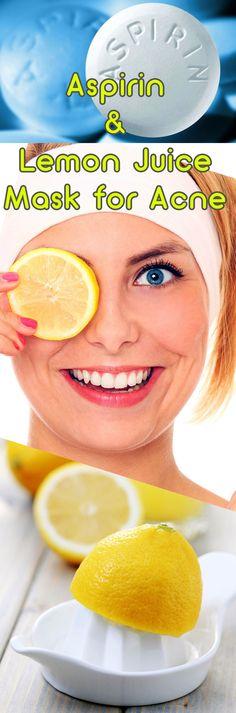 Aspirin & Lemon Juice Mask for Acne