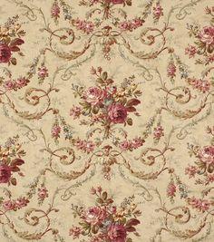 Home Decor Fabric-Robert Allen Rochelle Antique Fabric