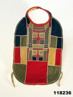 woman's collar + chest cover | embroidered | Lapland, Finland | prior to 1912