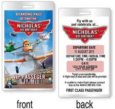 Disney Planes Birthday Party VIP Invitations or Favors