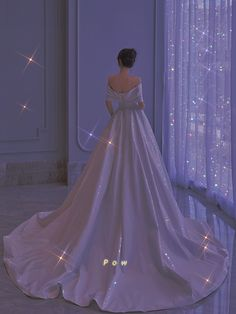 Pretty Quinceanera Dresses, Pretty Dresses, Beautiful Dresses, Princess Ball Gowns, Princess Outfits, Long Wedding Dresses, Wedding Dress Styles, Sparkly Gown, Fairytale Dress