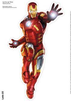 Centro de Mesa Vingadores Homem de Ferro 3-2-2