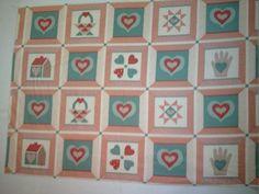 Vintage Quilt block panel  OOP by KoopsKountryKalico on Etsy, $6.99