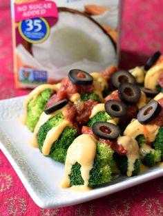 "Easy Cheesy Broccoli ""Nachos"" (Vegan, Gluten-Free & Allergy-Friendly)"