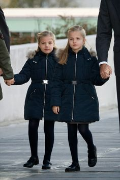 Nov 22, 2013 ~ Prince Felipe , Princess Letizia and their daughter İnfanta  Leonor and infanta Sofia visited  King Juan Carlos at  the Quiron University Hospital  in Pozuelo de Alarcon, Spain. King Juan Carlos  underwent an operation on his left hip