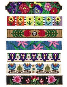 Peyote Beaded Bracelet Patterns by Sigrid Wynne-Evans at Bead-Patterns.com