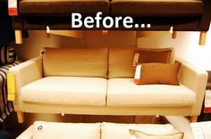 Before & After: Adding Style to an IKEA Karlstad Sofa