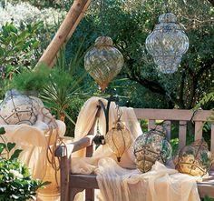 Oriental Style - Lampenserie Venexia aus mundgeblasenem Muranoglas