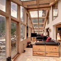Swiss Heinz Julen Penthouse Chalet With Stunning Mountain Views