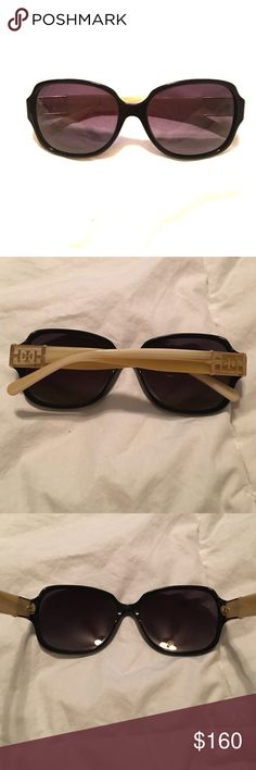 TORY BURCH SUNGLASSES Polarized, Authentic TORY BURCH SUNGLASSES. Like new! No scratches on lenses. Does not include sunglass case ivory and gold logo Tory Burch Accessories Sunglasses