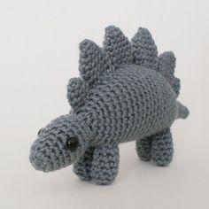 crocheted stegosaurus dinosaur by planetjune