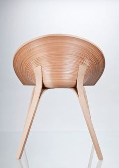 Playing with Wood Responsibly:  Original Tamashii Chair by Anna Štepánková