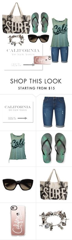 """Cali Charm"" by ktree5 ❤ liked on Polyvore featuring Oliver Gal Artist Co., Dorothy Perkins, Aéropostale, Bottega Veneta, Rip Curl, Casetify, beach, surf, california and cali"