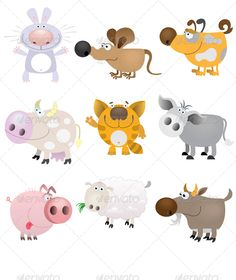 Domestic Animals Set - Animals Characters