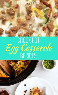 Using the best crock pot egg casserole recipes you can start your day off with a delicious meal without putting in too much time in the morning. Crock Pot Recipes   Best Crock Pot Recipe   Breakfast Recipes   Best Breakfast Recipes   Crock Pot Breakfast Recipes   Best Crock Pot Breakfast Recipes   Egg Casserole Recipes   Best Egg Casserole Recipes via @AmyBarseghian