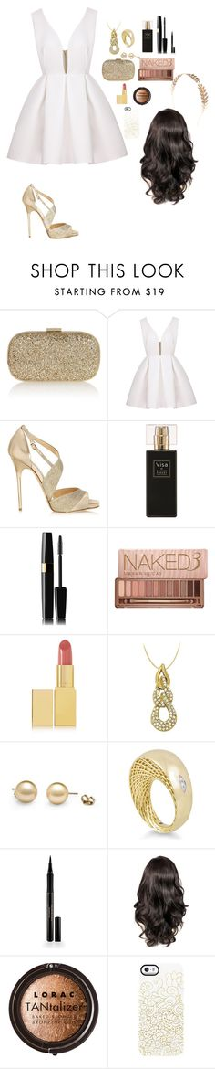 """""""Untitled #37"""" by anisia-mateia ❤ liked on Polyvore featuring Anya Hindmarch, Jimmy Choo, Robert Piguet, Urban Decay, AERIN, LoveBrightJewelry, Roberto Coin, Elizabeth Arden, LORAC and Uncommon"""