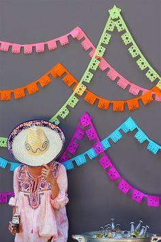 DIY Papel Picado Banners // HonestlyYUM