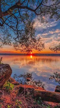 Sunset at Sørup in Esrum, North Zealand, Denmark  #BeautifulLandscaping