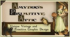 Vintage Halloween Woman, Cat and Owl design by Amybug's Attic, unique vintage and primitive graphic design ~ www.amybug.com ~ eBay auction templates, Facebook and Etsy banners, picture trail templates, blog templates, website graphics, and more! Designs for all seasons,  including fall / autumn, halloween, thanksgiving, winter, Christmas, Valentine's day,  spring / summer, patriotic / Americana, Easter, St. Patrick's day, and of course, designs for everyday :)