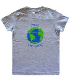 Now, your child can help other children in need! This tee is inspired by the globe in our logo with a little love from the crayon box. When you buy this tee, WCL will give a new t-shirt to a child in need around the world. #Children #ChildInNeed #WCL #WorldClothesLine #OneForOne #World #MadeInUSA
