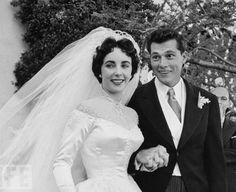 "Wedding No. 1 - Elizabeth Taylor (aged 18) and Conrad ""Nicky"" Hilton -1950"