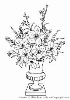 Free Coloring Books for Adults | realistic flower coloring pages 03
