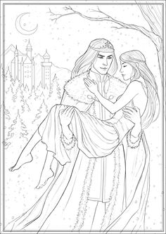 The Snow King and Gerda by Neirr.deviantart.com on @deviantART