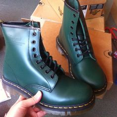 Dr Martens 1460  Green Size:UK3-UK10 ,Email:wangxia11073@hotmail.com Dr Martens 1460, Dr. Martens, Cherry Red, Red Green, Combat Boots, Navy, Shoes, Black, Fashion