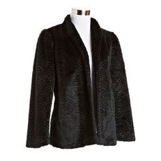Faux Astrakhan Coat Black, $119, now featured on Fab.